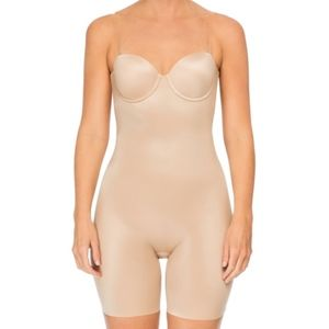 Spanx strapless cupped bodysuit